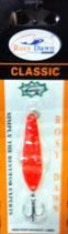 Блесна форелевая планирующая Rosy Dawn Classic 7 гр, 57 мм  Цвет 007, подложка - лимонный