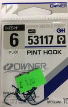 Крючки OWNER 53117 №6 PIN HOOK
