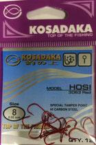 Крючки Kosadaka HOSI 3063 RED № 8
