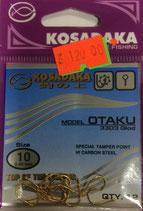 Крючки KOSADAKA OTAKU 3303 GOLD № 10