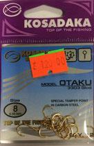 Крючки KOSADAKA OTAKU 3303 GOLD № 8