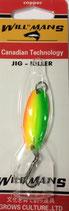 Блесна форелевая  планирующая GROWS CULTURE 05 WILL-MANS GC  38 мм, 4 гр.  Цвет подложки: - лимон