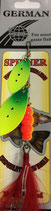 Блесна  GERMAN SPINNER ВЕРТУШКА вес 15 г., цвет 12# модель 5157-5#