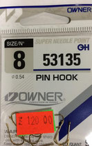 Крючки OWNER 53135 №8 PIN HOOK