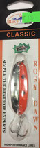 Блесна форелевая планирующая Rosy Dawn Classic 7 гр., 57 мм  Цвет 124, подложка - морковный
