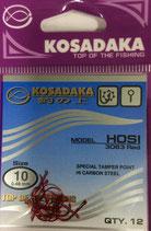 Крючки Kosadaka HOSI 3063 RED № 10