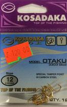 Крючки KOSADAKA OTAKU 3303 GOLD № 12