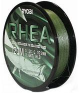 Леска плетёная RYOBI PE RHEA 8* 120m d-0.105 #3.8kg Dark green