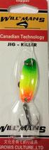 Блесна форелевая планирующая GROWS CULTURE WILL-MANS GC  38 мм, 4 гр.  Цвет подложки: - морковный