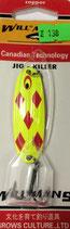 Блесна форелевая планирующая GROWS CULTURE WILL-MANS GC 60 мм, 7 гр.  Цвет подложки - малиновый