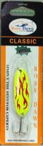 Блесна форелевая планирующая Rosy Dawn Classic 7 гр., 57 мм  Цвет 001(в), подложка - серебристый