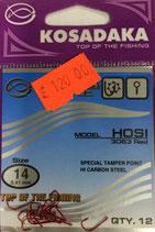 Крючки Kosadaka HOSI 3063 RED № 14