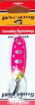 Блесна форелевая  GROWS CULTURE WILL-MANS GC 60 мм, 7 гр.  Цвет 011/A, подложка-морковь с сер.точками