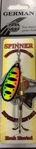 Блесна  GERMAN SPINNER ВЕРТУШКА       вес 9,5 г., цвет G3 модель 5140-4#