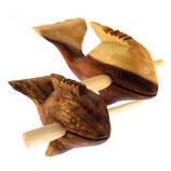 Holzdelfin (klein) 10 cm, zum Schlagen und Blasen, inkl. Schlägel