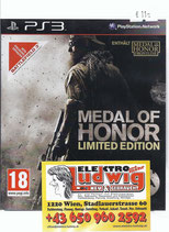 PS3 Medal of Honor Limited Edition FSK18