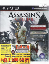 PS3 Assassins Creed III FSK18 Special Edition