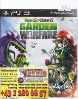PS3 Plants vs Zombies Garden Warfare