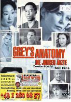 DVD Greys Anatomie Staffel 2 Teil 1