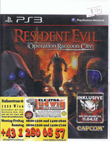 PS3 Resistend Evil Operation Racoon City FSK18