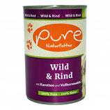 Pure Wild & Rind mit Karotten und Vollkornnudeln