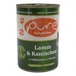 Pure Katzenmenü Lamm & Kaninchen mit Vollkornreis und Tomaten