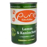 Pure Lamm & Kaninchen mit Kartoffeln und Spinat