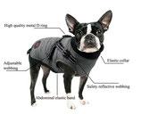 """Hundemantel """"Urban Paws"""" mit integriertem Geschirr"""