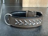 Swiss Design Lederhalsband Serpentin