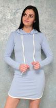 Sweater-Kleid mit Kapuze