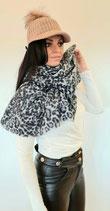 Schal in Leoparden-Look