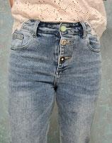Jeans locker geschnitten High Waist mit Knöpfe