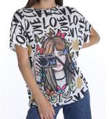 T-Shirt  Kamera Bedrucktes Muster