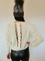 Strickpullover mit sexy Rücken