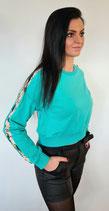 Pullover mit Pailletten-Ärmel