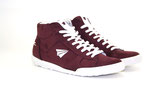 Sneaker High-Cut bordo