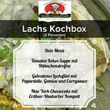 Lachs Kochbox, Drei-Gänge-Menüs, für 2 Personen
