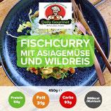 Fischcurry, Asiagemüse, Wildreis