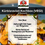 Kürbisravioli Kochbox (VEGI), Drei-Gänge-Menü, für 2 Personen