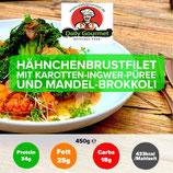Hähnchenbrustfilet, Karotten-Ingwer-Püree,Brokkoli
