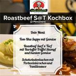 Roastbeef Kochbox, Drei-Gänge Menüs, für 2 Personen