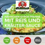 Hähnchen-Gyros-Pfanne mit Reis