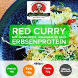 """VEGAN"" Red Curry, Jasminreis, Asiagemüse, Erbsenprotein"