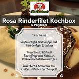 Rosa Rinderfilet Kochbox, Drei-Gänge-Menüs, für 2 Personen