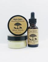 FACE MOISTURIZER SET: Daytime Serum & Night Balm