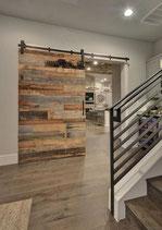 Loftdeur met 3d barnwood