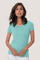 95° waschbares Extrem strapazierfähiges, kochfestes, chlorechtes, farb- und formbeständiges T-Shirt für Damen