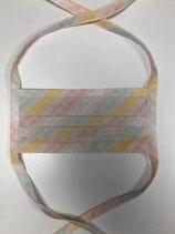 Facie06    Mund-Nasen-Maske rosa gemustert