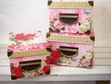 【pink rose】ペーパーボックス全3サイズ(853-499)