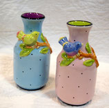 バードモチーフ陶器製花瓶全2色(553-822)